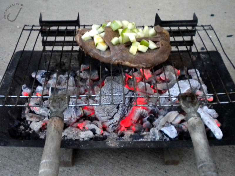 grilled deer heart
